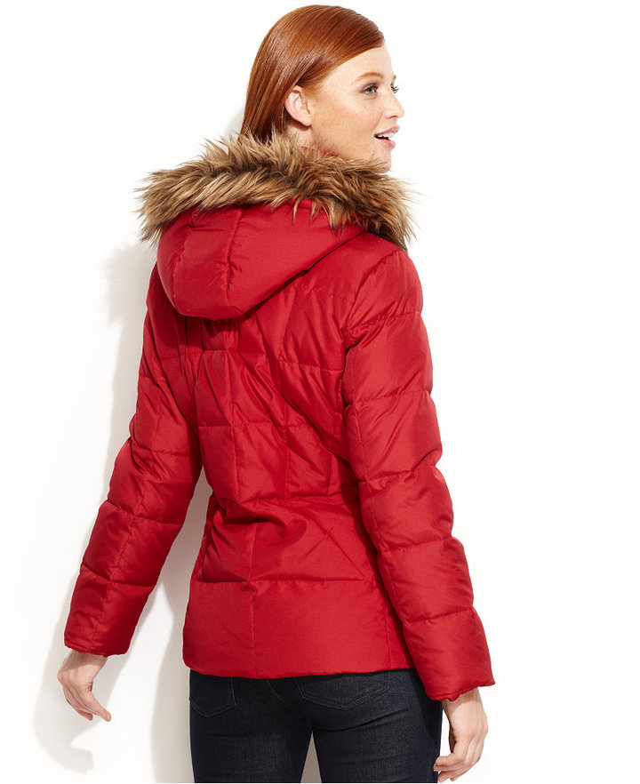 Calvin Klein Jacket, Faux-Fur-Trim Hooded Puffer Parka
