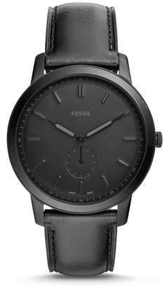 Fossil The Minimalist Two-Hand Black Leather Watch