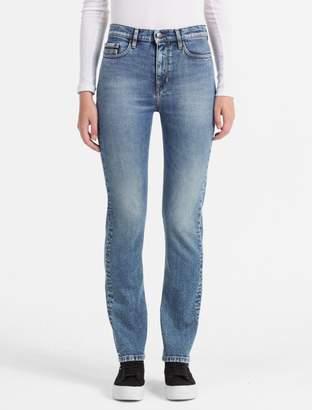 Calvin Klein straight fit high rise indigo blue jeans