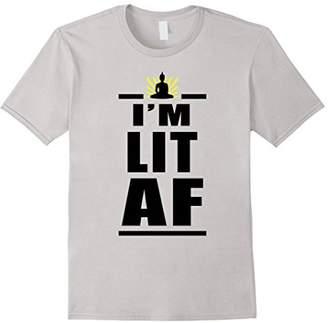 I'm Lit AF Funny Yoga T Shirt Chakra T-Shirt Buddha Tee