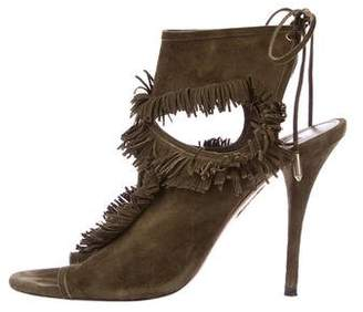 Aquazzura Wild Thing Suede Sandals