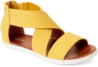 Mia Yellow Deana Crisscross Flat Sandals