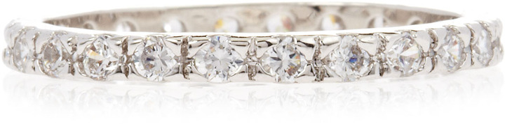 Kenneth Jay Lane CZ by Pave Cubic Zirconia Band Ring, Size 7