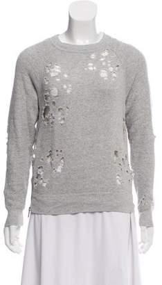 R 13 Distressed Knit Sweater