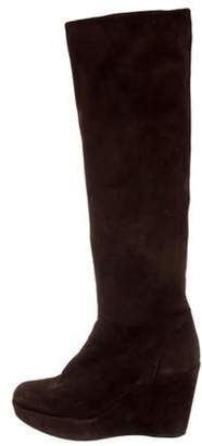 Stephane Kélian Suede Knee-High Boots Brown Stephane Kélian Suede Knee-High Boots
