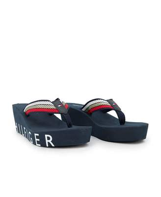 4b9ded96d Tommy Hilfiger Footwear Iconic Wedge Beach Sandals Colour  Red White B