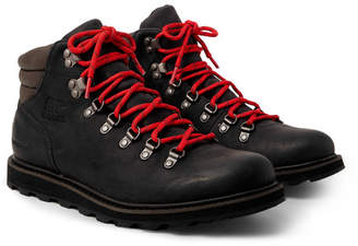 Sorel Madson Hiker Waterproof Leather And Rubber-Trimmed Nubuck Boots