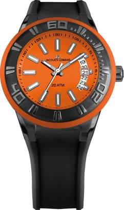 Jacques Lemans Men's Analogue Quartz Watch with Silicone Strap 1-1784M