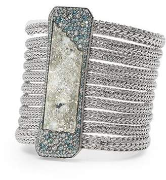 John Hardy Silver Calcite Classic Chain Multi-Row Bracelet