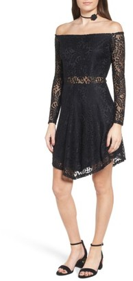 Women's Fire Lace Off The Shoulder Dress $55 thestylecure.com