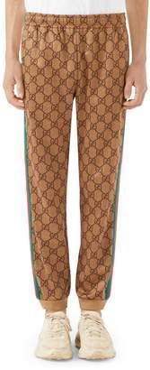 Gucci Print Tech Jersey Jogger Pants