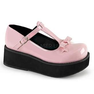 Demonia Women's Spr03/bppt Flat Sandal