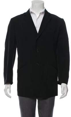 Giorgio Armani Wool Notch-Lapel Jacket