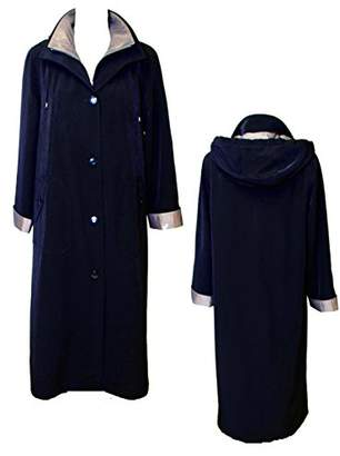 Gallery Women's Full Length Button Front Raincoat