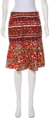 Altuzarra Printed Knee-Length Skirt
