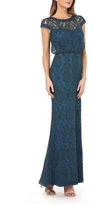 JS Collections Blouson Bodice Lace Gown