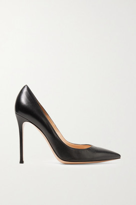 Gianvito Rossi 105 Leather Pumps - Black