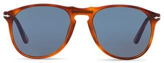 Persol Men's Icons Collection Evolution Pilot Square Sunglasses, 55mm