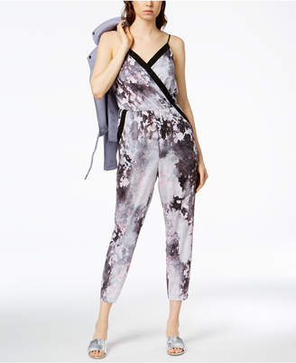 Bar III Printed Cropped Jumpsuit, Created for Macy's