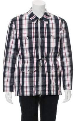 Black Fleece Lightweight Plaid Jacket