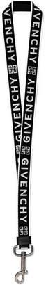 Givenchy Obsedia Logo-Jacquard Webbing Lanyard Key Fob