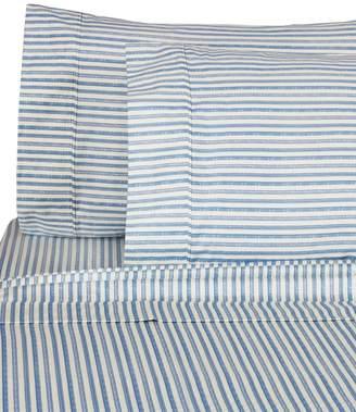Melange Home 400 Thread Count Cotton Bamboo Stripe 4-Piece Sheet Set