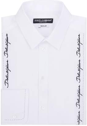 Dolce & Gabbana Embroidered Bib Shirt
