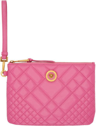 Versace Pink Quilted Medusa Pouch