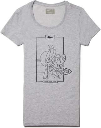 Lacoste Women's SPORT Miami Open Design Jersey Tennis T-shirt