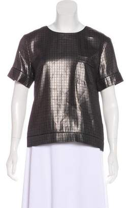 Marc Jacobs Silk Patterned Short Sleeve Top