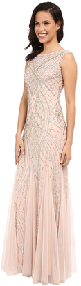 Adrianna Papell - Sequin Embellished Sleeveless Godet Gown 61910460 $687 thestylecure.com