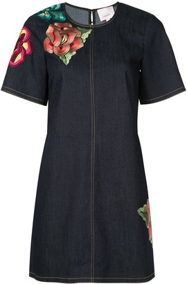 Cinq à Sept denim embroidered Ashton dress