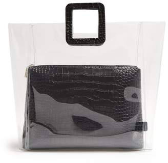 6a96d98c7cf4 Staud - Shirley Pvc And Crocodile Effect Leather Tote - Womens - Black