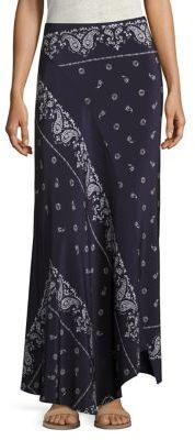 Theory Sopheena Bandana Silk Maxi Skirt $355 thestylecure.com