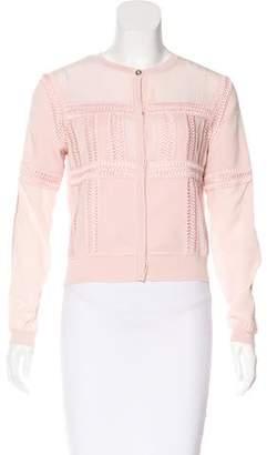 Versace Paneled Wool Cardigan