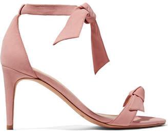 Alexandre Birman Clarita Bow-embellished Suede Sandals - Baby pink