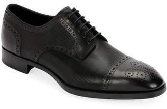 Giorgio Armani Men's Calf Leather Brogue Derby Shoe