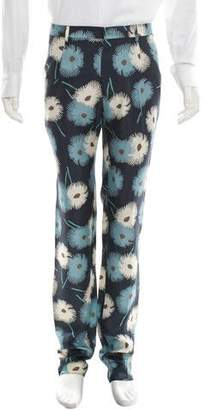 Valentino Silk Floral Print Pants