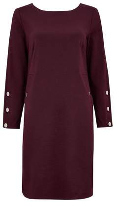 Wallis Berry Stud Sleeve Shift Dress