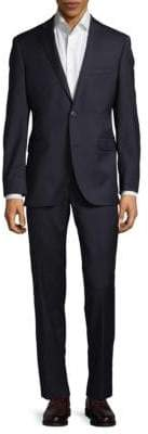 Saks Fifth Avenue Extra Slim Fit Herringbone Wool Suit
