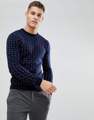 Ted Baker Crew Neck Sweater With Print