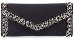Judith Leiber Couture Envelope Velvet Clutch Bag
