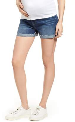 Paige Jimmy Jimmy Cuff Denim Maternity Shorts