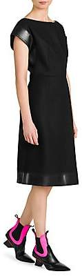 Prada Women's Panno Patch Pocket Sheath Dress