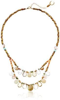 Avindy Peruvian Opal Briolette Bib Necklace