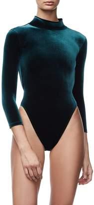 Good American The Velvet Backless Bodysuit