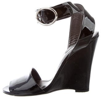 Dolce & Gabbana Dolce & Gabbana Patent Leather Wedge Sandals