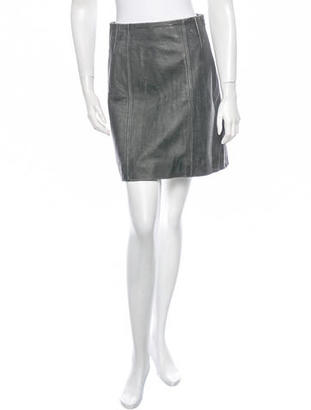 Marc by Marc Jacobs Leather Side Zip Skirt $115 thestylecure.com