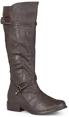 Brinley Co. Women's Harley Riding Boot Regular & Wide Calf