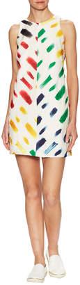 Milly Brushstroke Print Shift Dress
